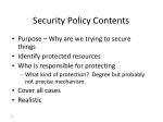 security policy contents