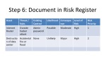 step 6 document in risk register