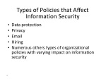 types of policies that affect information security