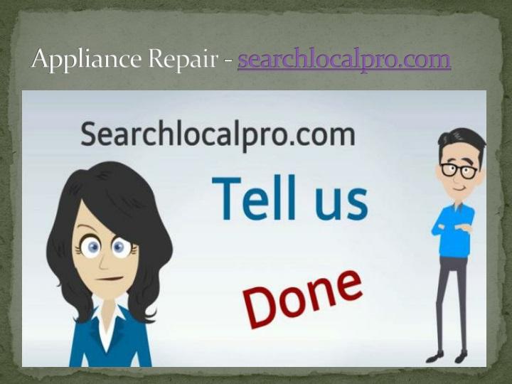 appliance repair searchlocalpro com n.