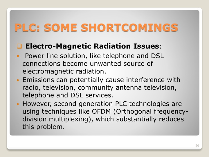 Electro-Magnetic Radiation Issues