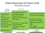 power electronics for smart grids photovoltaic inverters