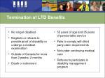 termination of ltd benefits