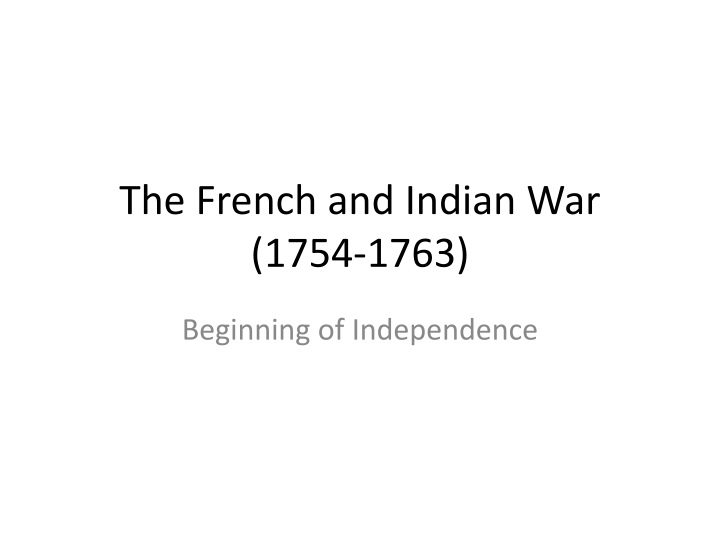 the french and indian war 1754 1763 n.