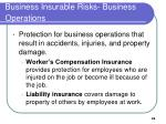 business insurable risks business operations