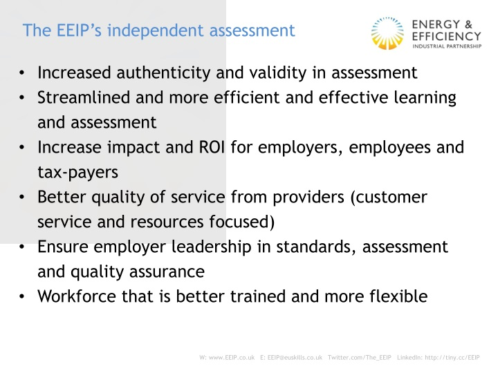 The EEIP's independent assessment