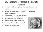 key concepts for global food safety systems