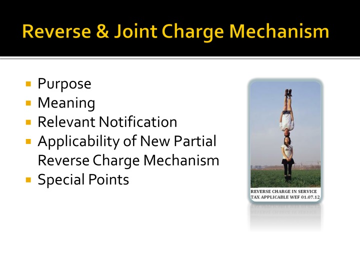 Reverse joint charge mechanism