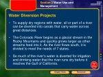 water diversion projects