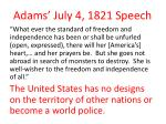 adams july 4 1821 speech