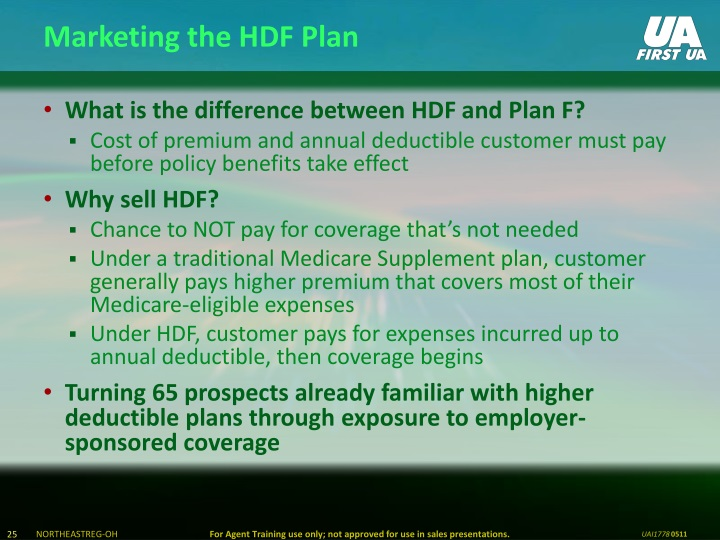 Marketing the HDF Plan