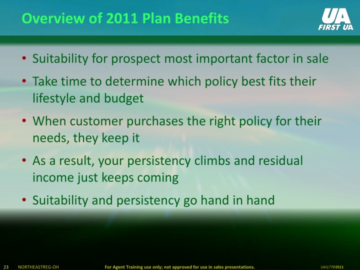 Overview of 2011 Plan Benefits