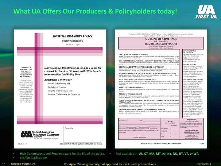 What UA Offers Our Producers & Policyholders today!