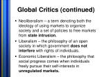 global critics continued