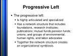 progressive left
