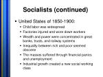 socialists continued1