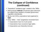 the collapse of confidence continued