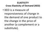 elasticity cross elasticity of demand xed