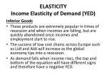 elasticity income elasticity of demand yed5