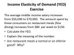 income elasticity of demand yed exercise