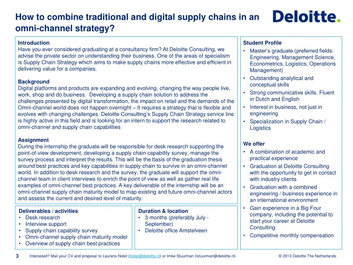 PPT - Internship at Deloitte Consulting PowerPoint