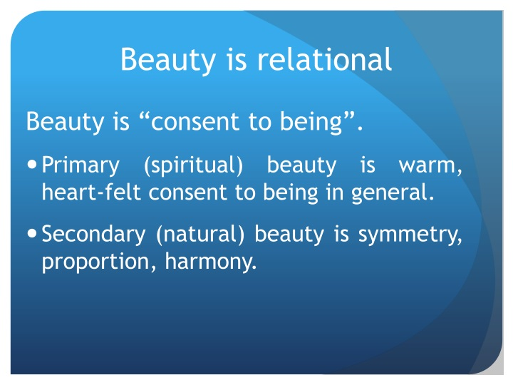 Beauty is relational