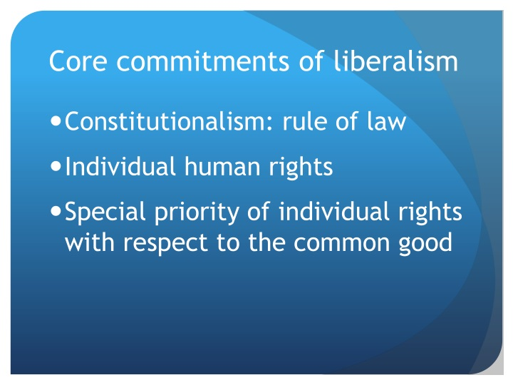 Core commitments of