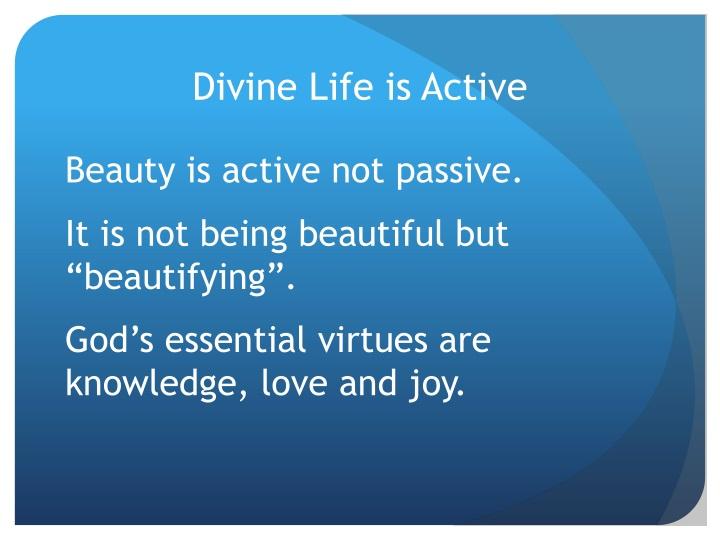 Divine Life is Active