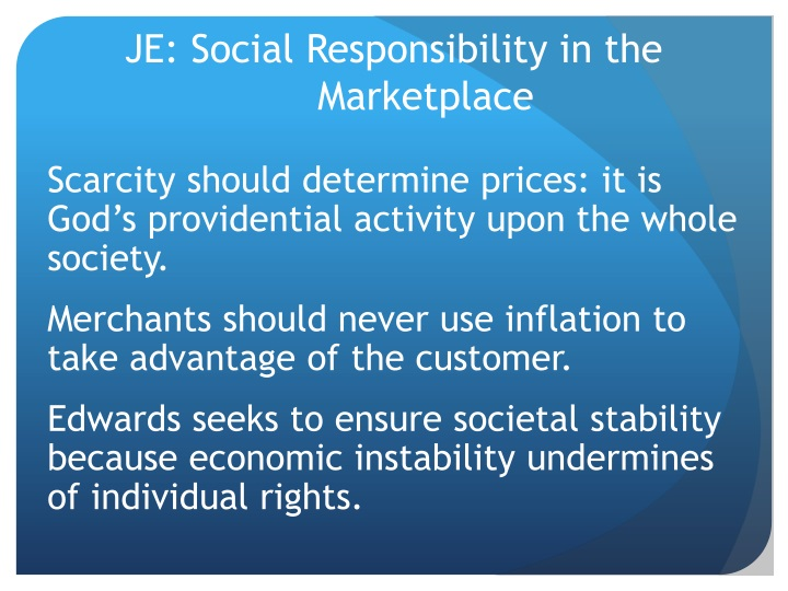 JE: Social Responsibility in the Marketplace