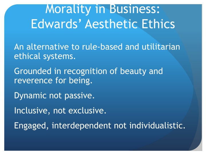 Morality in Business: