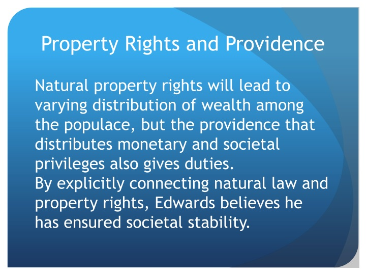 Property Rights and Providence