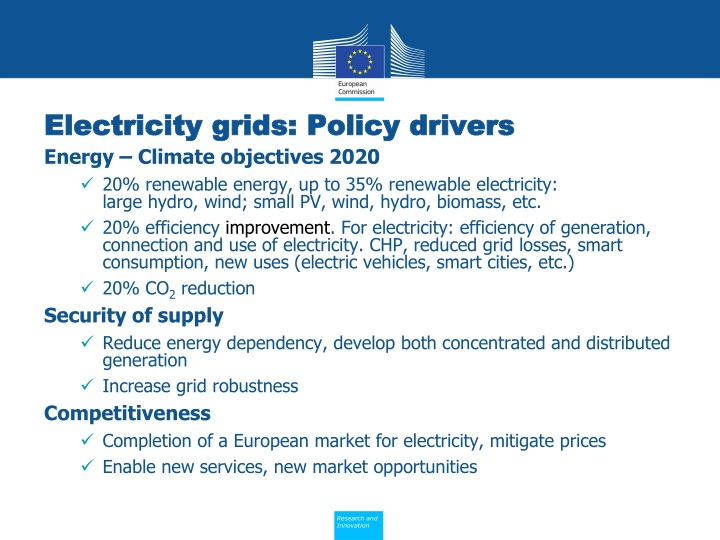 Electricity grids policy drivers