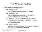 the windows desktop 2