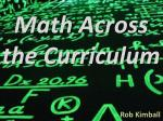 math across the curriculum