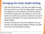 changing the color depth setting1
