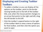 displaying and creating taskbar toolbars1