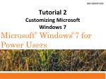 tutorial 2 customizing microsoft windows 7