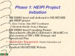 phase 1 heipi project initiation