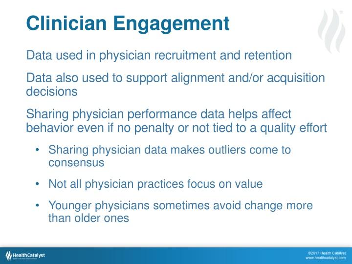 Clinician Engagement