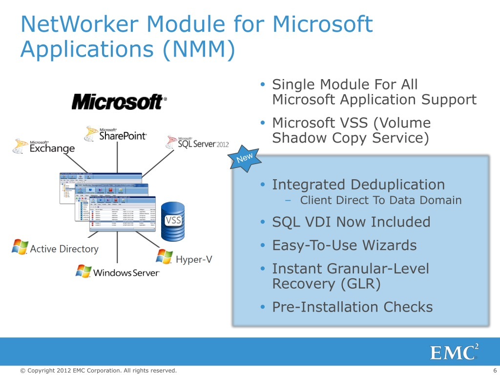 PPT - EMC NETWORKER MODULE FOR MICROSOFT APPLICATIONS