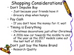shopping considerations