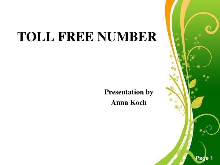 toll free number n.