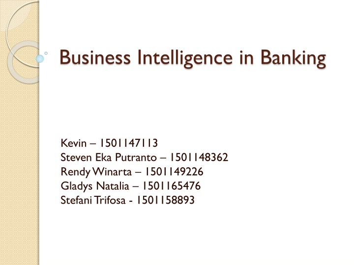 business intelligence in banking n.