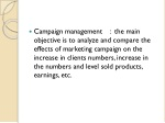 campaign management the main objective
