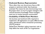 dedicated business representation more often than