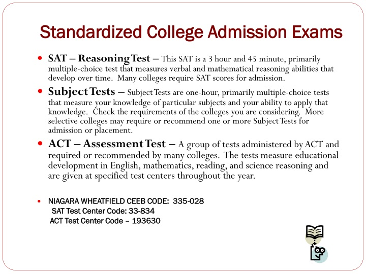 Standardized College Admission Exams