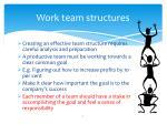 work team structures