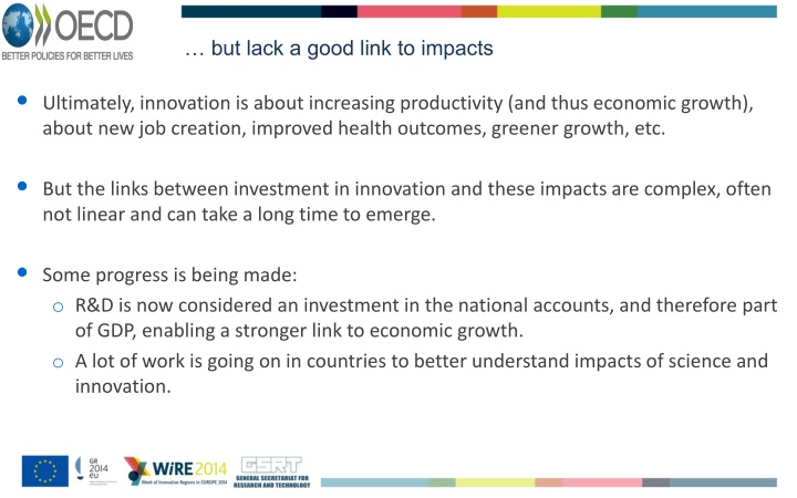 … but lack a good link to impacts