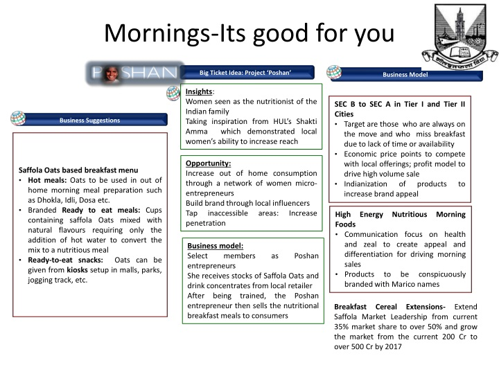 Mornings its good for you