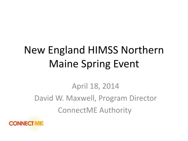 new england himss northern maine spring event n.